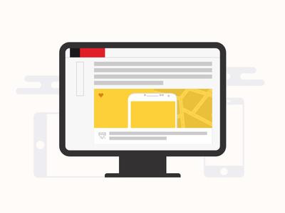 Le Web icon devices media web visualcookies