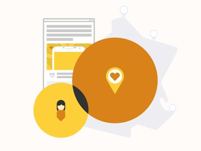Le User Location location yellow user page web road pin heart orange france map visualcookies