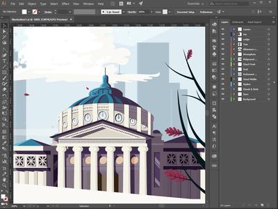 Wip Hero Image visualcookies skyline sky cloud building bucharest atheneum athenaeum