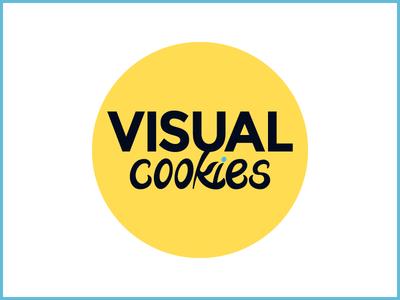 Visual Cookies Logo blue yellow logo visualcookies