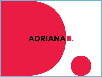 AdrianaD Logo red portfolio personal logo
