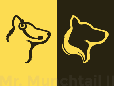 Mr Munchtail 2 headset symbol minimalism minimalist logo callcenter