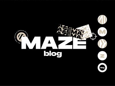 MAZE BLOG blogging wordpres blogger blog design design minimalistic minimalist logo mtv site blog minimalist logo identity maze