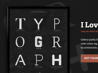 I Love Typography Presentation Page