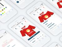 TeamShirts Mobile Designer