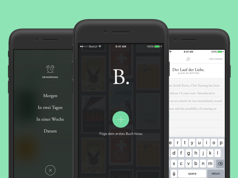 Buch. – Reading Tracker Concept typography clean reading app books progress tracker app reading