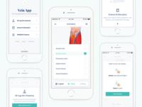 Vein App – AR Medical Mobile App 3d clean app ui mobile app mobile design augmented reality
