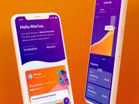 Munich RE Garden – Mobile App illustration playful ios finance mobile app design mobile ui mobile app mobile money charts