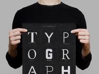 Typography poster mockup 3