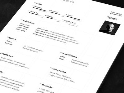 resume cv print version by justin schueler dribbble