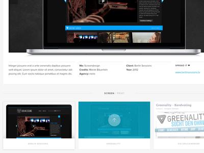 My website - final screen design