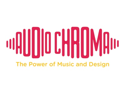 AUDIO CHROMA Logo sound wavelength umsl audio logo music logo design logo