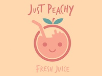 """Just Peachy"" Fresh Juice Logo"