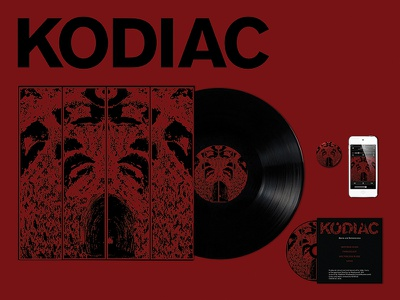 "KODIAC ""Being and Nothingness"" Album Branding cd record bands music design design music album kodiac"