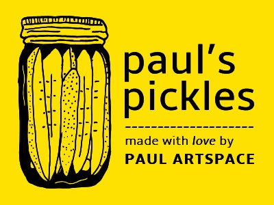 Paul's Pickles Design market jar residency artist totes pickles pauls