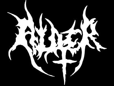 Alder Deathmetal Logo lettering typeography hand type logo deathmetal