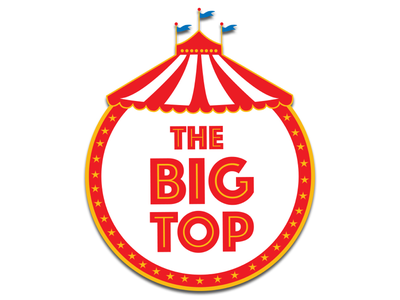 The Big Top Logo clowns venue event identity branding logo carnival circus