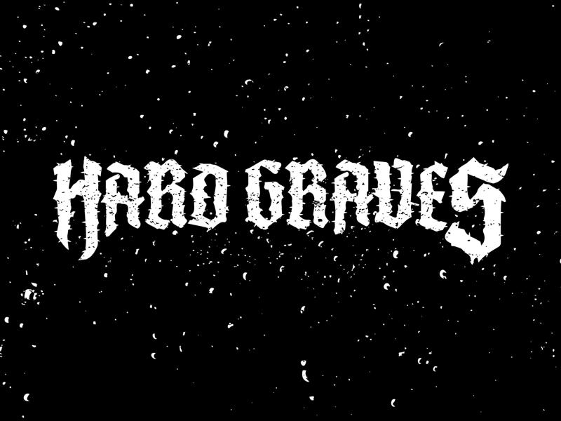 Hard Graves Logo music metal gothic black letter logo band