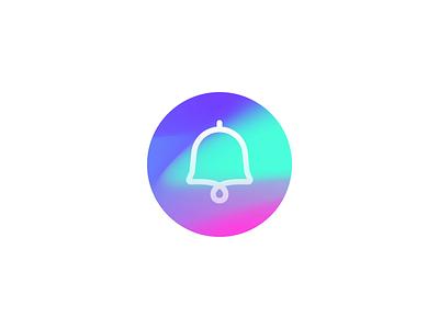 Bell icon animation icon colour mp4 animation ui gif design