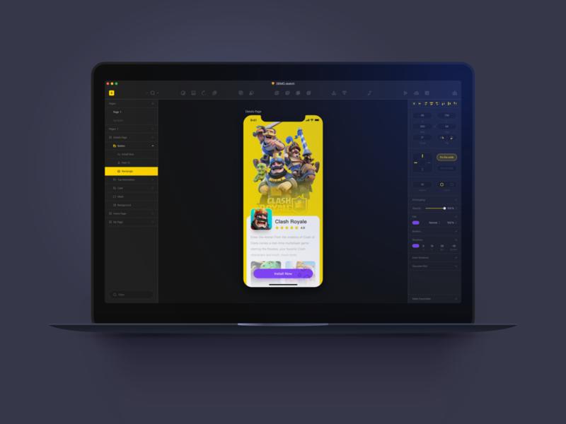Sketch Dark UI Redesign design toolkit redesign dark sketch