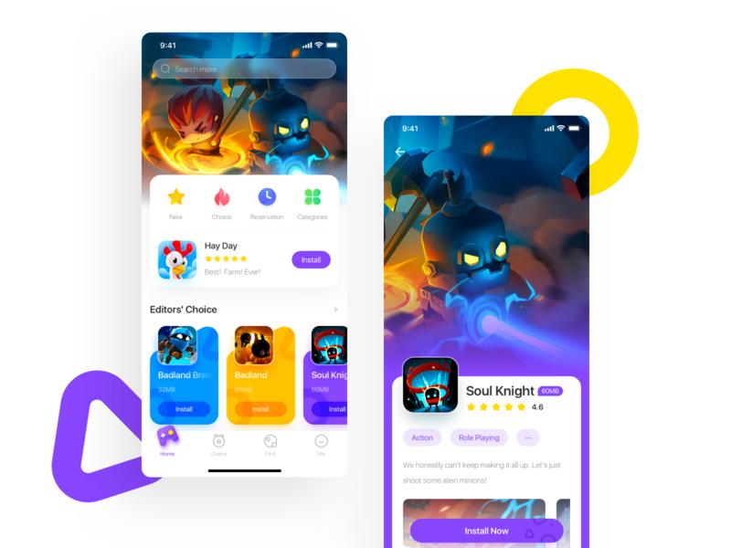 Game store APP app ux ui store game