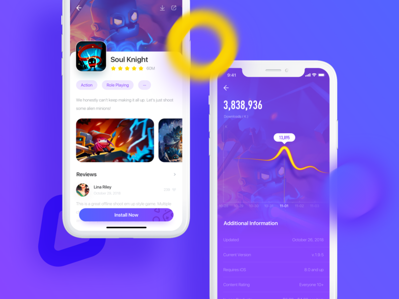 Game store - Details page store ux ui design game app