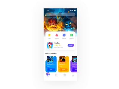 Animation of Game Store mp4 gif ux ui 商店 游戏 插图 应用