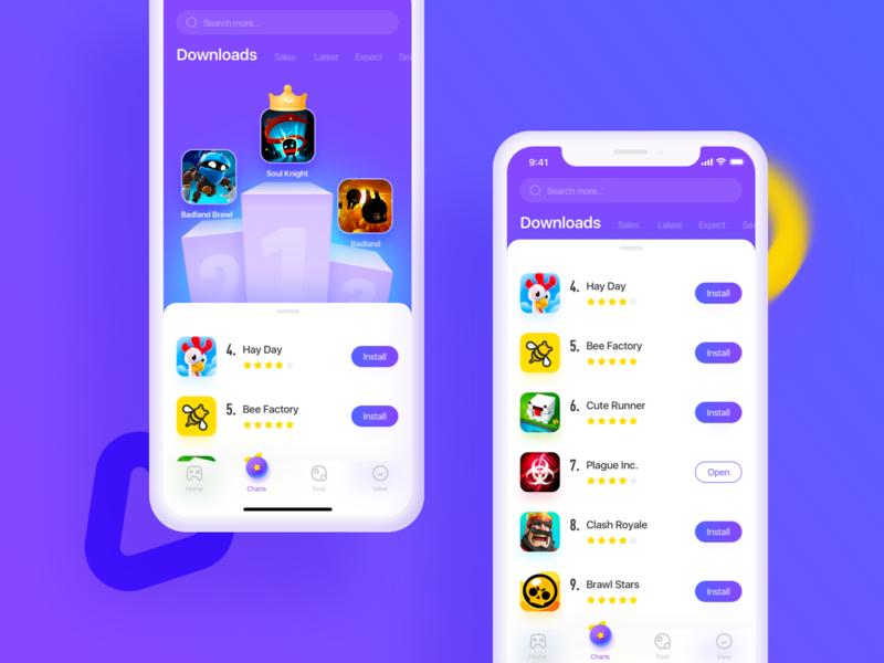 Game store APP icon gradient color vector logo design store game ux ui illustration app