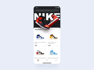 Live marketplace for sneakers APP mp4 principle animation sneakers tunan colour design ux gif app ui