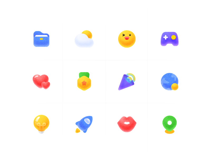 Interesting icons icon vector logo colour design tunan illustration ui