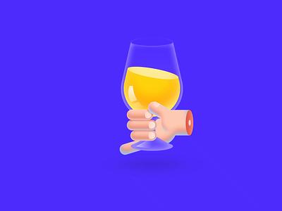 A goblet gradient game mp4 icon colour animation design tunan illustration gif