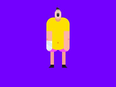 The poor man. gradient vector mp4 colour animation illustration design tunan gif