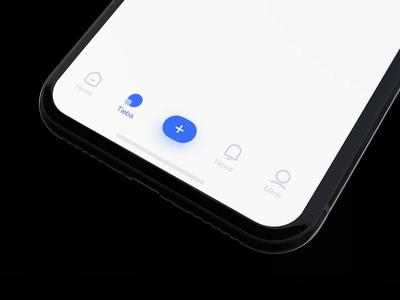 App tabbar animation