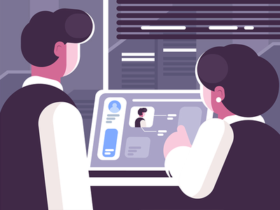 work day ps ai illustration