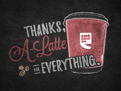 Café Coffee Day | Teachers' day tribute doodle scribble chalk coffee beans teacher illustration chalkboard blackboard cafe coffee day india cafe