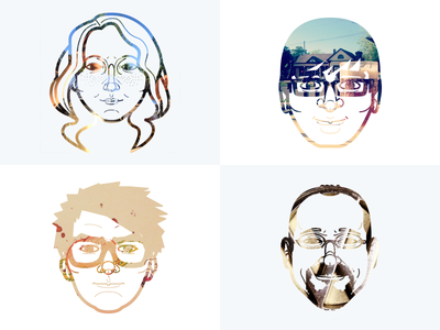Instagram Portraits mostly serious website realign redesign illustration instagram portrait about photo mask retina responsive concept