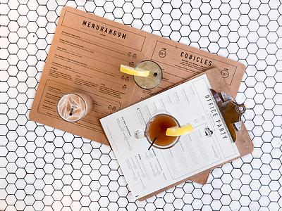 J.O.B. Food & Drink Menus menu bar food drink print tile clipboard cocktail photo