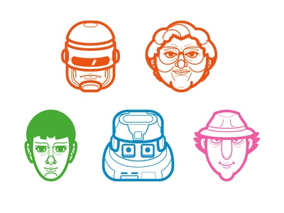 Can You Name These Characters? mostly serious illustration business cards icons logos branding departments designers agency designer guidelines
