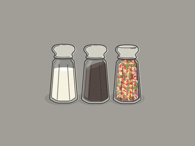 Salt, Pepper, & Rainbow Sprinkles priorities life spice sprinkles pepper salt