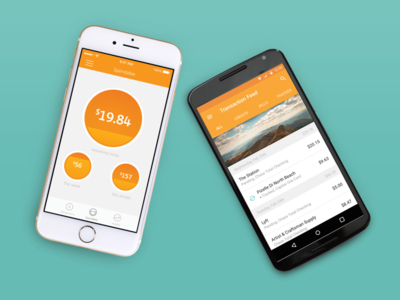 Level Money budget spend app money transaction feed android ios