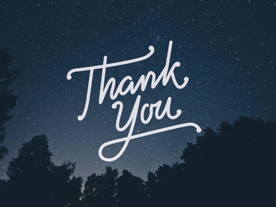 Thank you gratitude thank you thanks script typography