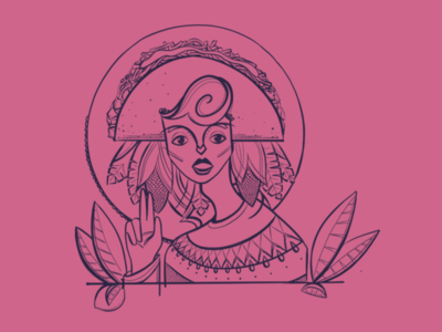 Our lady of tacos, patron saint of streetfood tacos illustration