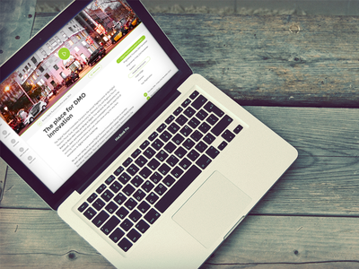 Digital tourism portal redesign events portal ui flat web ux layout