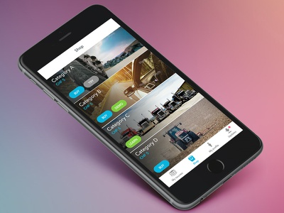 Shop app design ui app ios