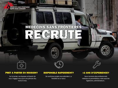 MSF Recruiting Landing Page visual web micro site landing page ui