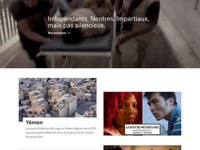 News page for msf.ch webdesign clean web design ux ui