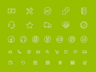 Iconpack for internet store Gruntovik