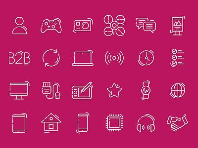 Iconpack for company distributor line icons karen sardaryan distribution b2b electronics dihouse k-funky iconpack