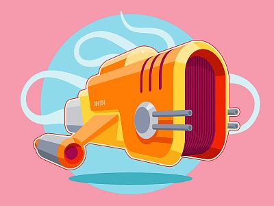 Flying drone concept illustrator cc vector illustration concept sketch speed art karen sardaryan k-funky