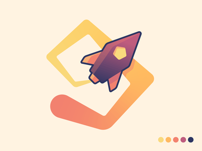 Rocketship logo kfunkydesign dailylogochallenge design karen sardaryan k-funky logo speed design logo